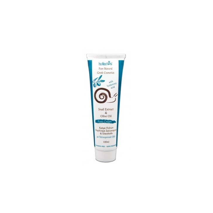 Foot Cream with Snail Extract, Olive Oil and Hyaluronic (100ml)