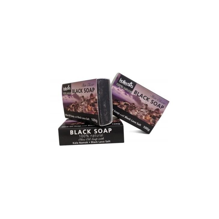 Kollectiva Natural Soap with Black Lava Salt ' Volcano ' and Olive Oil (100gr)