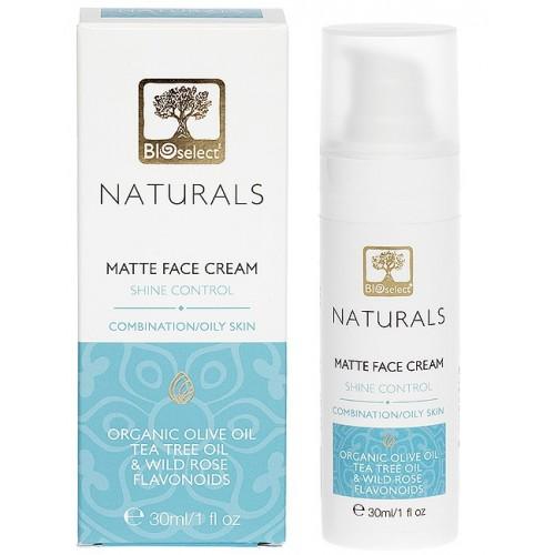 Matte Face cream for Combination or Oily skin Bioselect Naturals 30ml