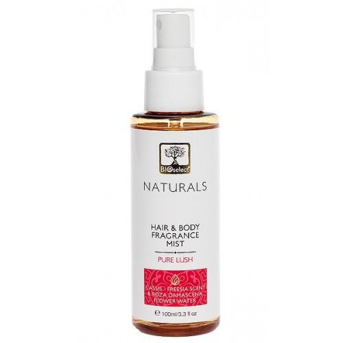 Hair & Body Mist Pure Lush Bioselect Naturals 100ml 3.3 fl.oz