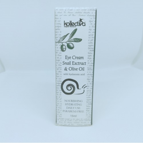 EYE CREAM SNAIL EXTRACT AND OLIVE OIL KOLLECTIVA (15ML)