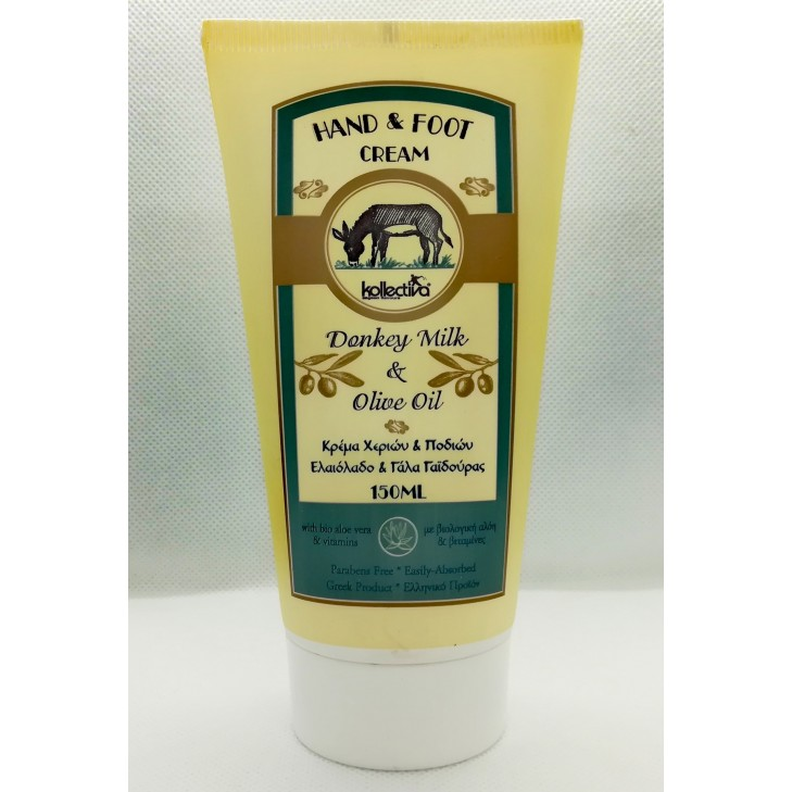Kollectiva Hand and Foot Cream with Donkey Milk and Olive Oil (150ml)