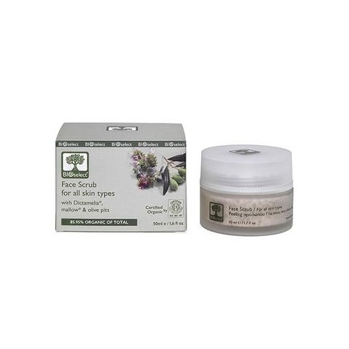 Face Scrub for All Skin Types Bioselect Organic 50ml