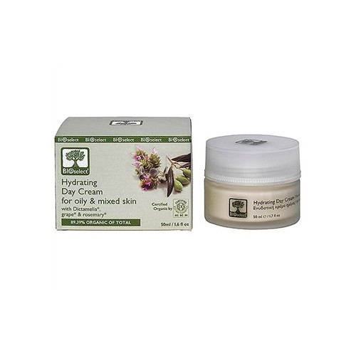 Hydrating Day Cream for Oily and Mixed Skin Bioselect Organic 50ml