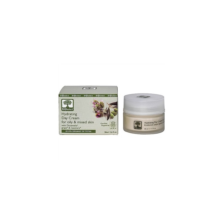 Hydrating Day Cream for Oily and Mixed Skin Bioselect (50ml)