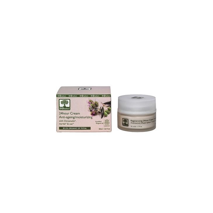 24 Hour Cream Anti Aging - Moisturizing Bioselect (50ml)