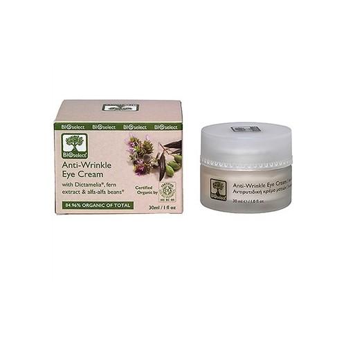 Anti Wrinkle Eye Cream Bioselect Organic 30ml