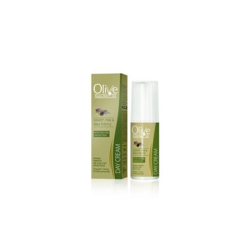 Day Face Cream with UVA-UVB Protection Minoan Life - Olive Beauty Medi Care 50ml