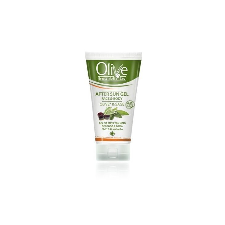 After Sun Gel for Face and Body Olive - Minoan LIfe (150ml 5.07 fl oz)