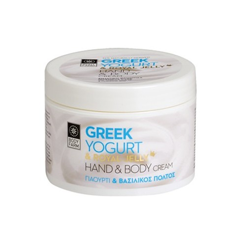 Hand and Body Cream with Greek Yogurt & Royal Jelly Bodyfarm (200ml, 6.8oz)