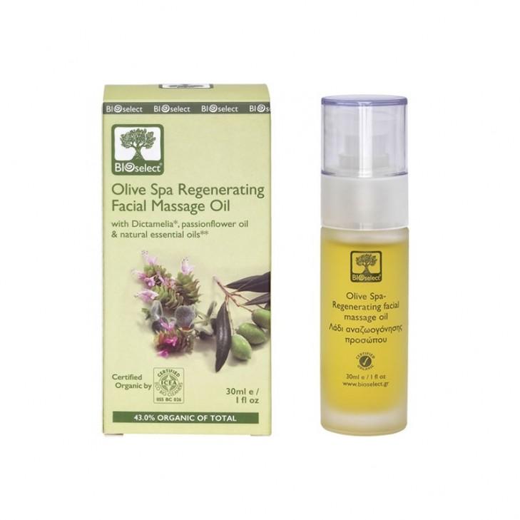 Bioselect Olive Spa Regenerating Facial Massage Oil Organics (30ml, 1 fl oz)