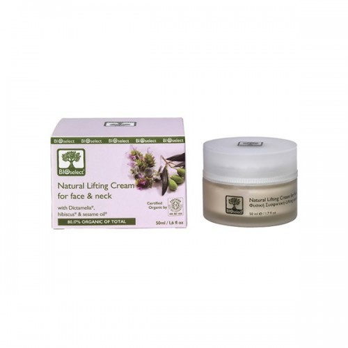 Natural Lifting Cream for Face and Neck Bioselect Organic 50ml