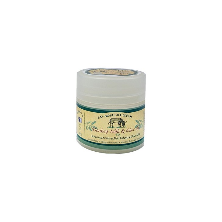 24 Hour Face Cream with Donkey Milk, Olive Oil and Bio Aloe Kollectiva (50ml)