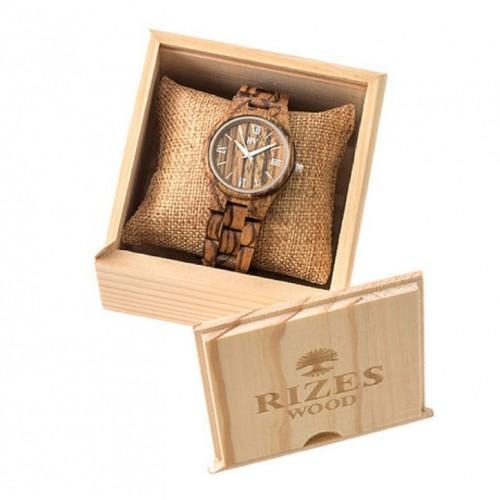 Wooden Wrist Watch for women Zebrawood Rizes
