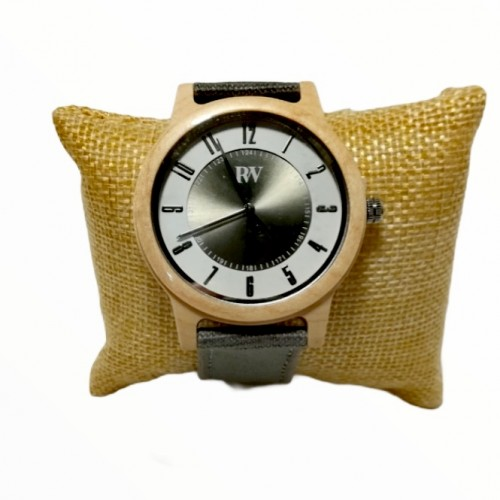 Wooden Wrist Watch Bamboo with Jean Strap Rizes