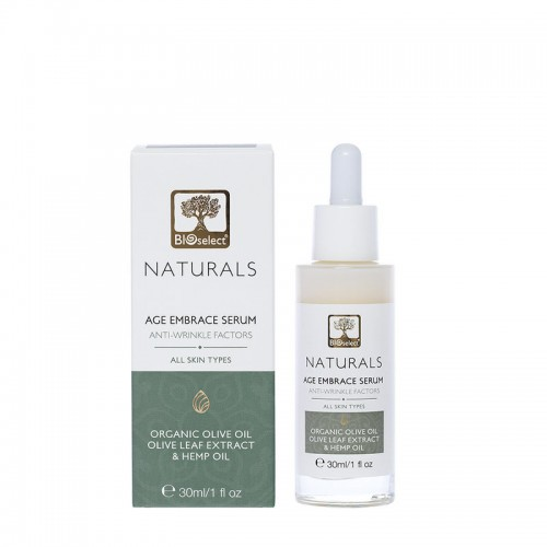 Age Embrace Serum for Face & Neck with Hemp Oil Bioselect Naturals (30ml)