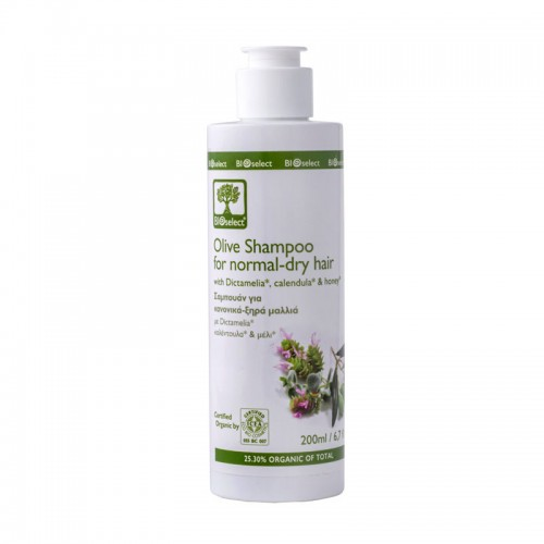 Olive Shampoo for Normal - Dry Hair Bioselect Organic (200ml)