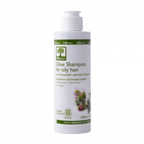 Olive Shampoo for Oily Hair with Dictamelia Bioselect Organic (200ml)