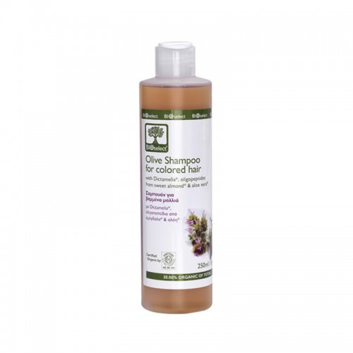 Olive Shampoo for Coloured Hair with Dictamelia Bioselect Organic (250ml)