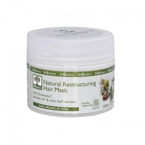Natural Restructuring Hair Mask Bioselect Organic 200ml