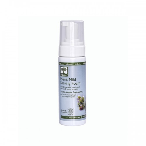 Mild Shaving Foam for Men Bioselect Organic 150ml