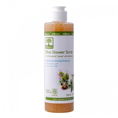 Olive Shower Scrub Bioselect Organic 250ml