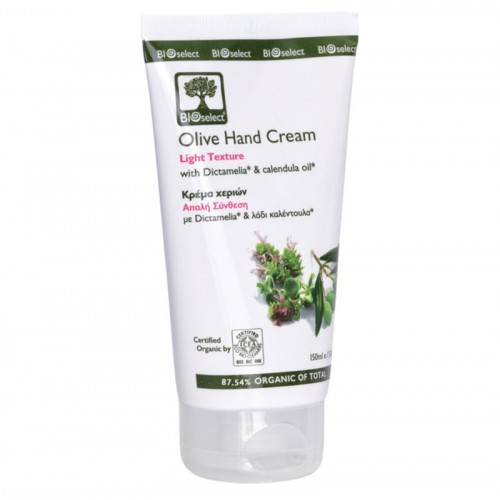 Olive Hand Cream - Light Texture Bioselect Organic 150ml