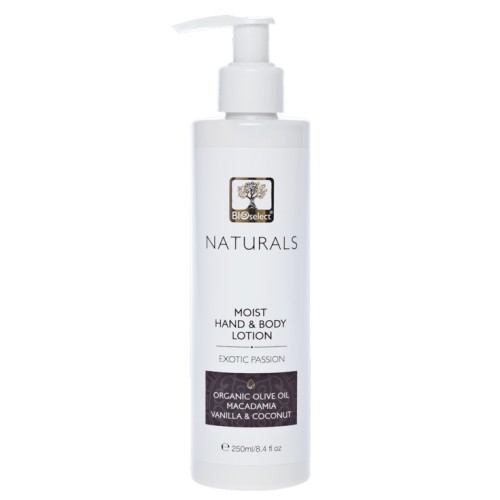 Hand & Body Lotion moisturizing - Exotic Passion Bioselect Naturals 250ml