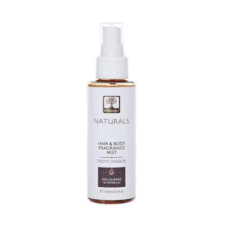 Hair and Body Fragrance Mist - Exotic Passion Bioselect Naturals 100ml