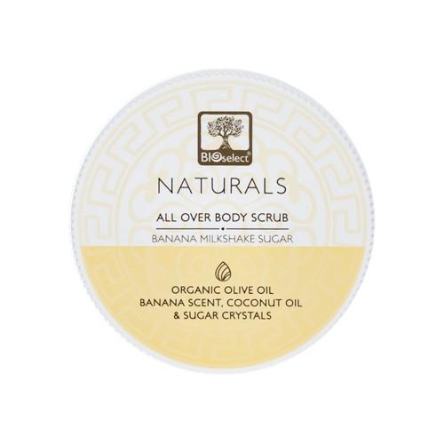 All Over Body Scrub Exfoliate and Polish - Banana Milkshake Sugar Crystals Bioselect Naturals 200ml