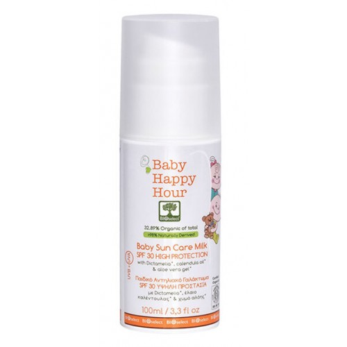 Baby Sun Care Milk High Protection SPF 30 Bioselect Organic 100ml