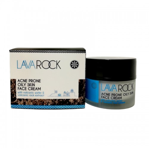Acne Prone Oily Skin Face Cream with Volcanic Water and Volcanic Rock Extract Lavarock 50ml