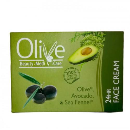 24 Hour Face Cream Olive & Avocado Minoan Life - Olive Beauty Medi Care 50ml